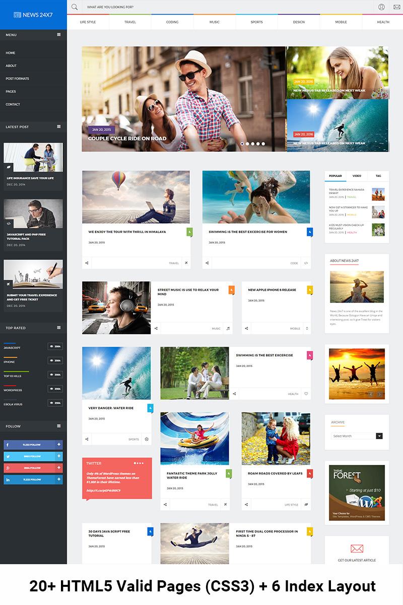 Template Web Flexível para Sites de Portal de Noticias №64738