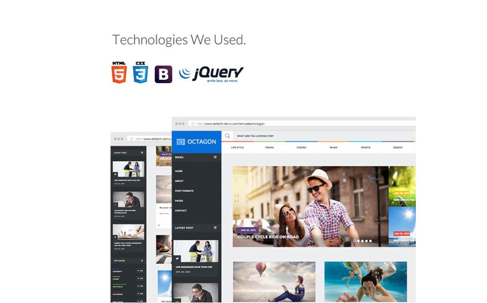 Template Web Flexível para Sites de Portal de Noticias №64738 Screenshot Grade