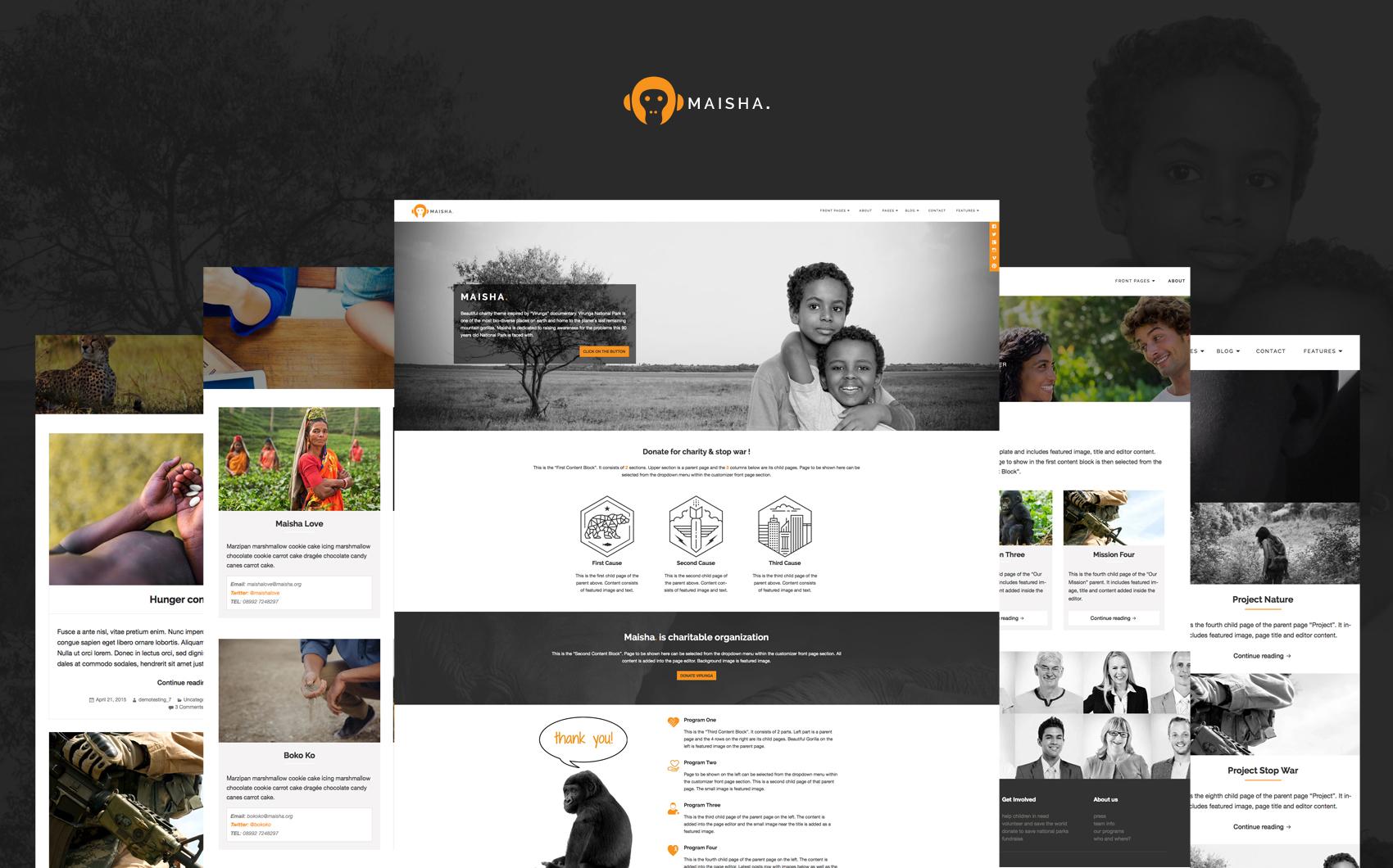 Tema WordPress Flexível para Sites de NGO №64079 Screenshot Grade