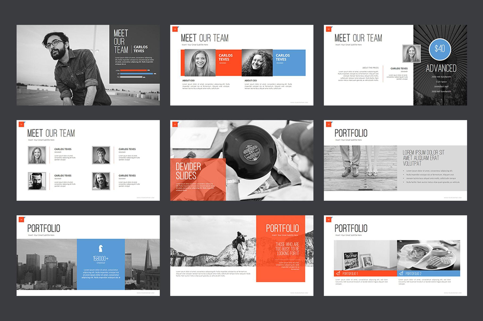 Business Creative PowerPoint Template Big Screenshot