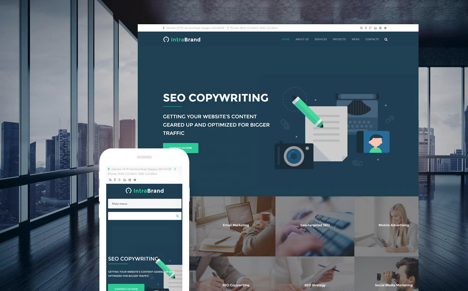 Intrabrand - SEO & Digital Marketing Agency Premium Drupal Template Big Screenshot