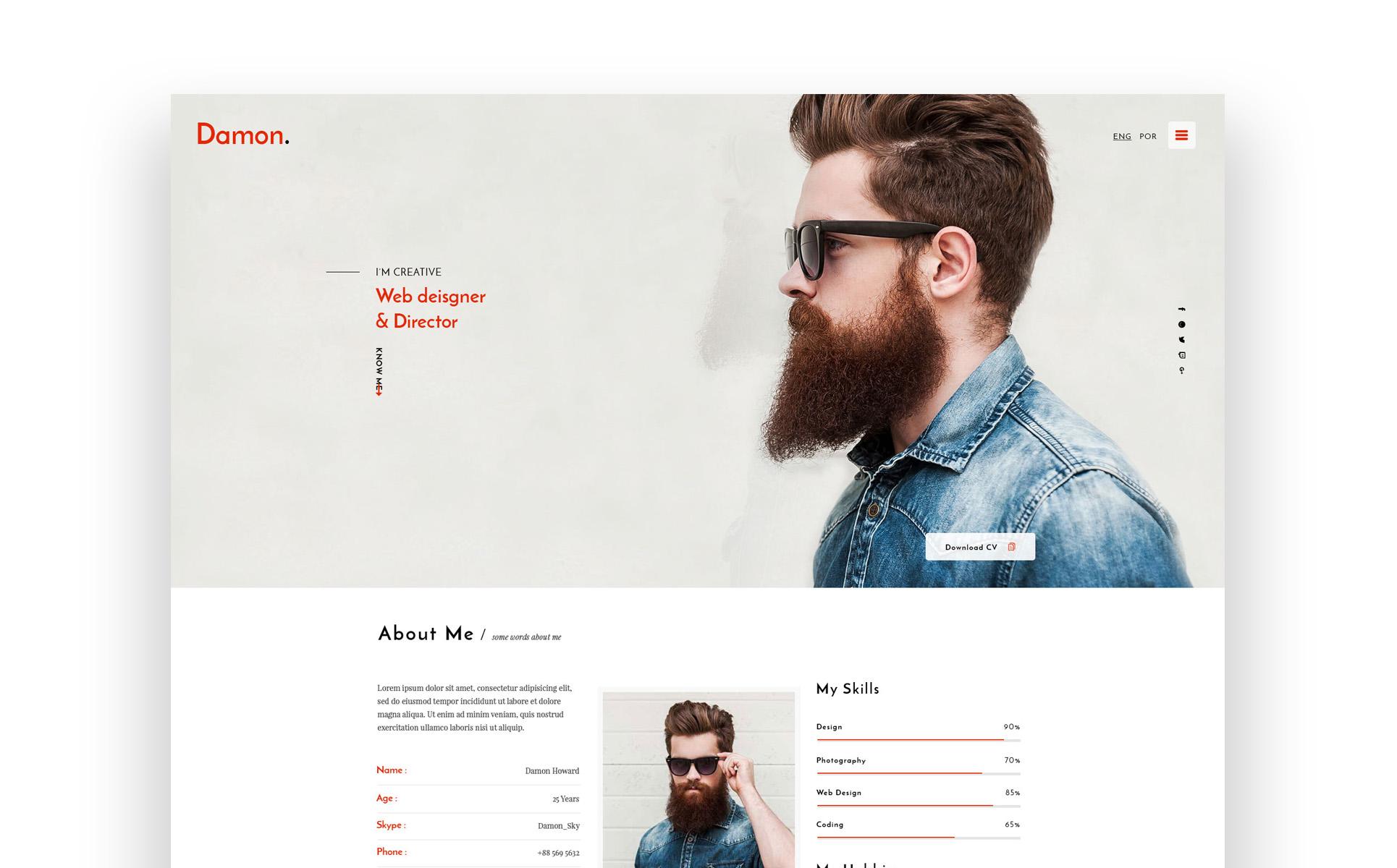 Responsywny szablon strony www #64551 na temat: biznes i usługi Duży zrzut ekranu