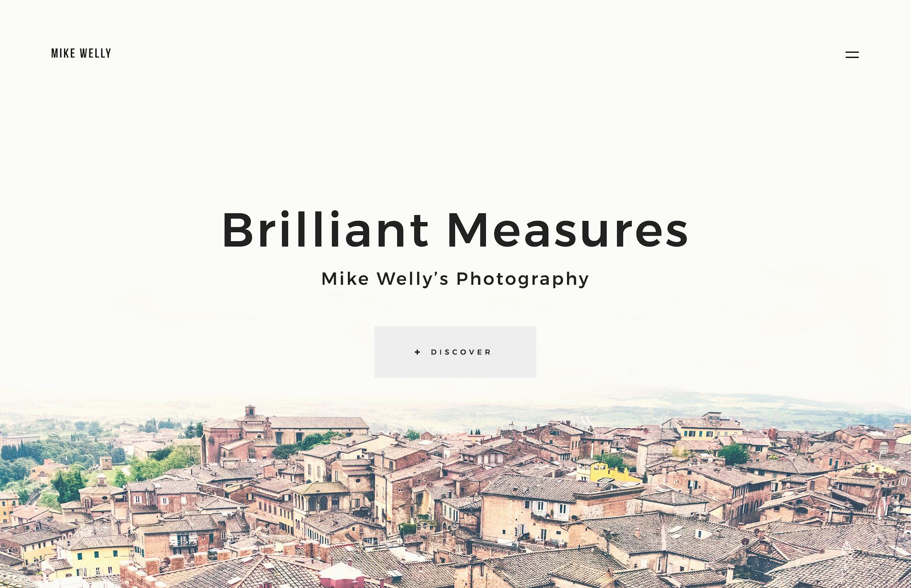 Responsive Website Vorlage für Fotografen Portfolio  Großer Screenshot