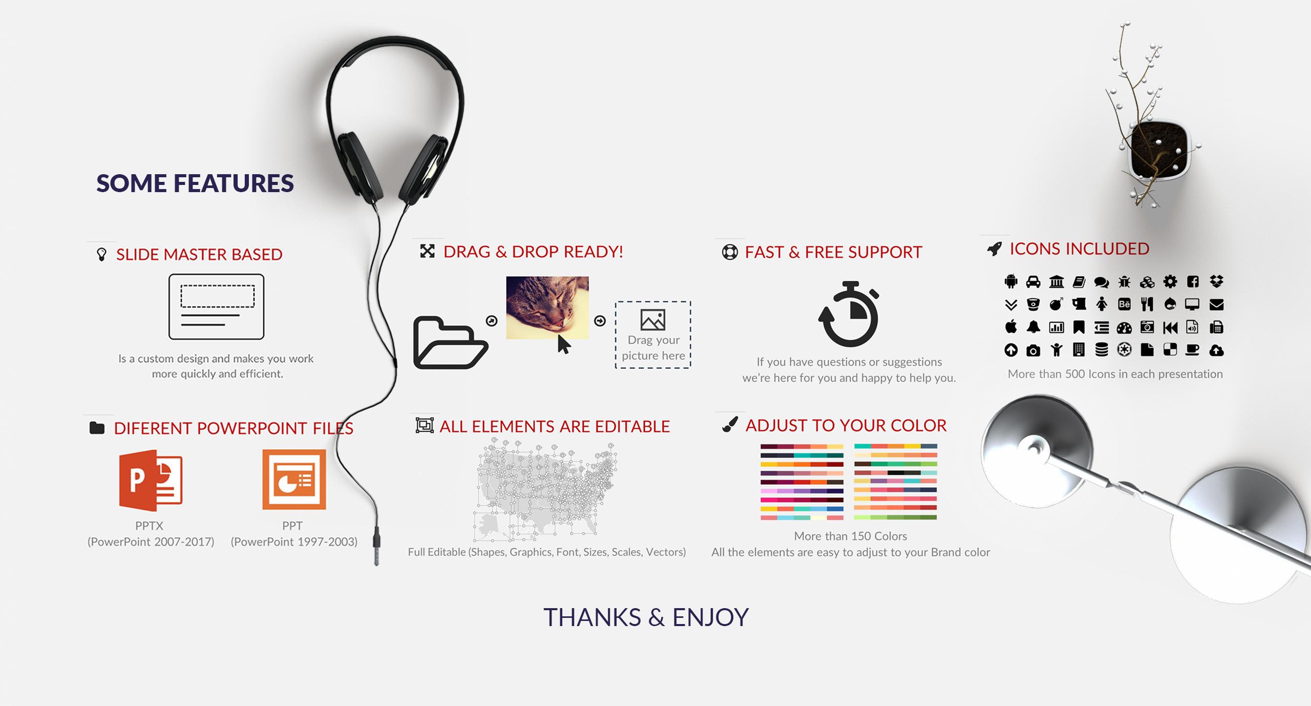 Template 64770 : Minimix Powerpoint Presentation PowerPoint