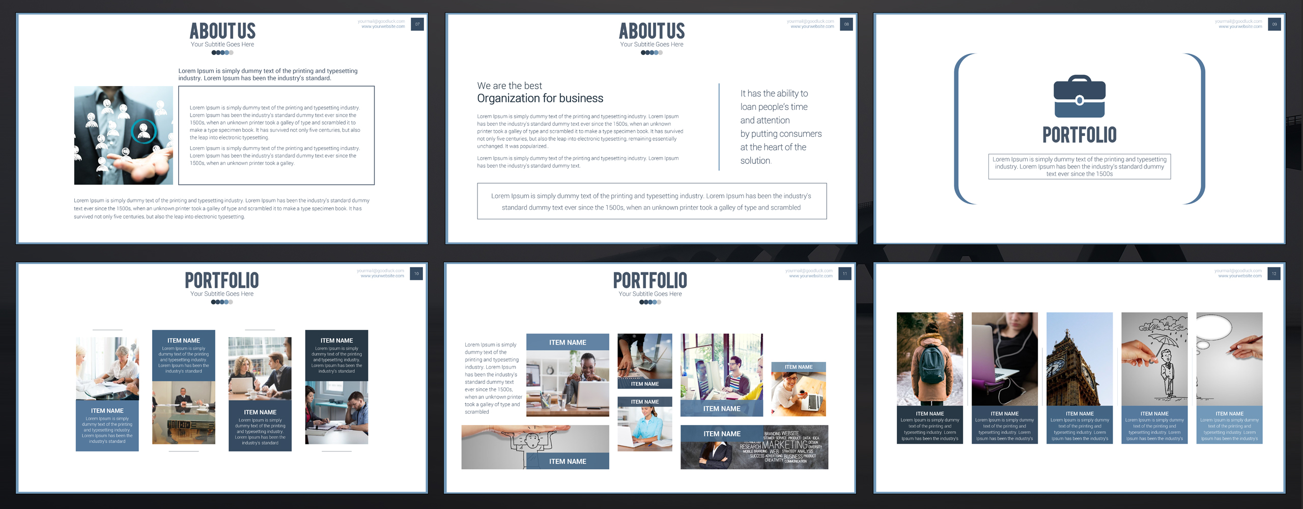 Noksa - PowerPoint Presentation Template Big Screenshot
