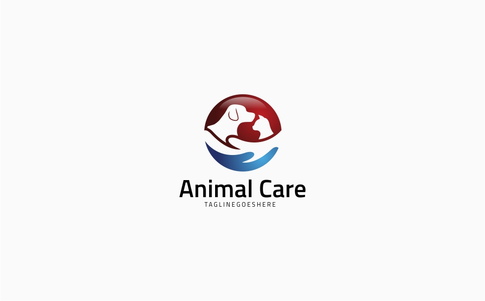 Animal Pet Care Logo Template