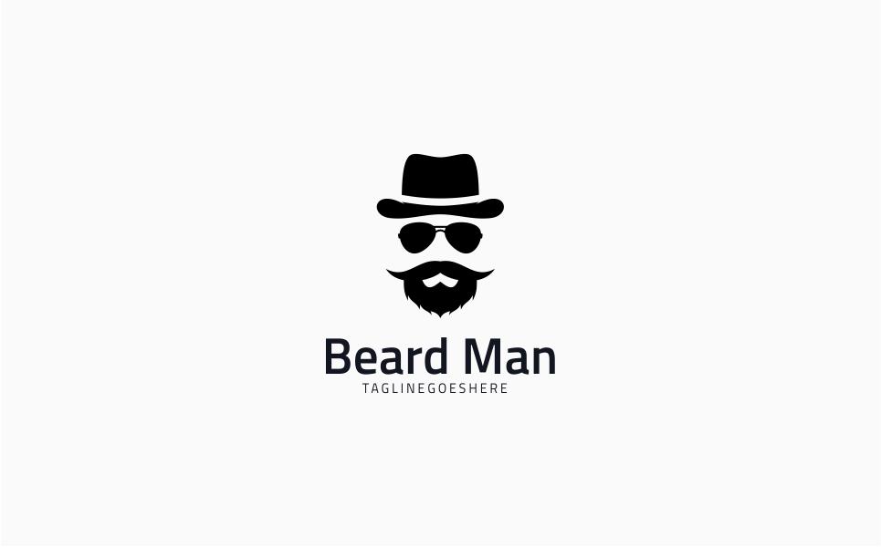 Hipster Gentleman Logo Template