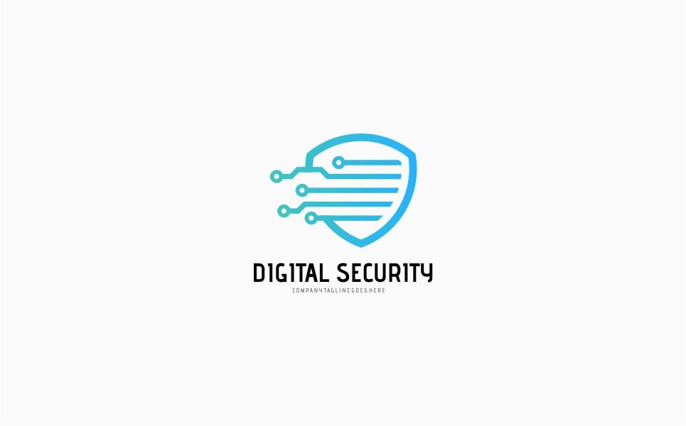 Digital Shield Security Logo Template
