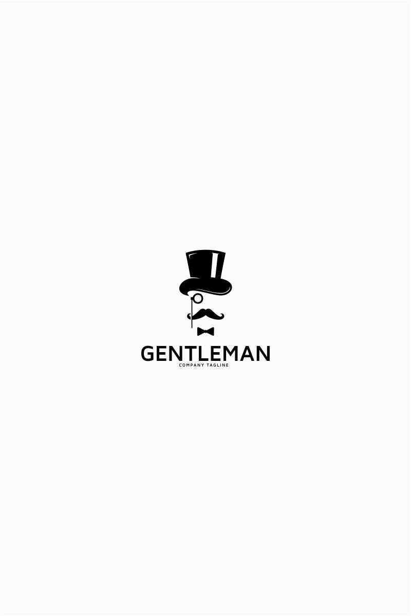 Gentleman Hipster Logo Template