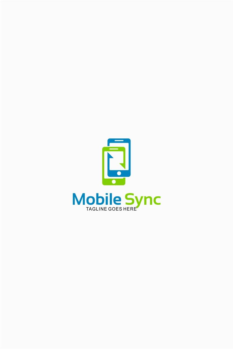 Mobile Phone Sync Logo Template
