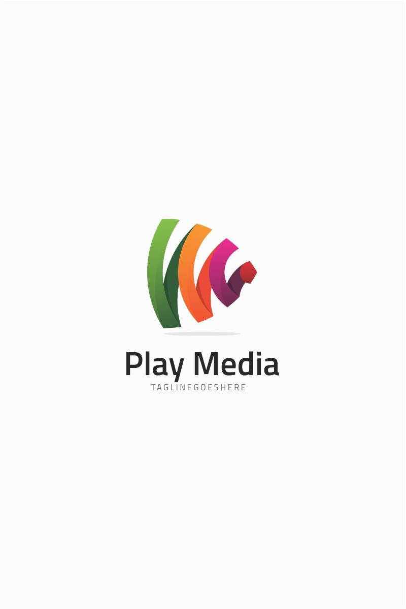 Abstract Play Media Logo Template