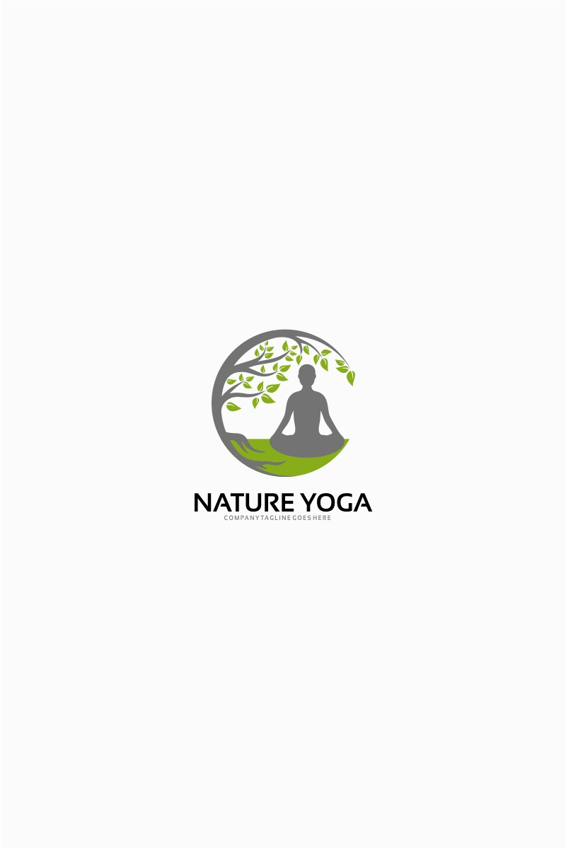 Nature Yoga Logo Template