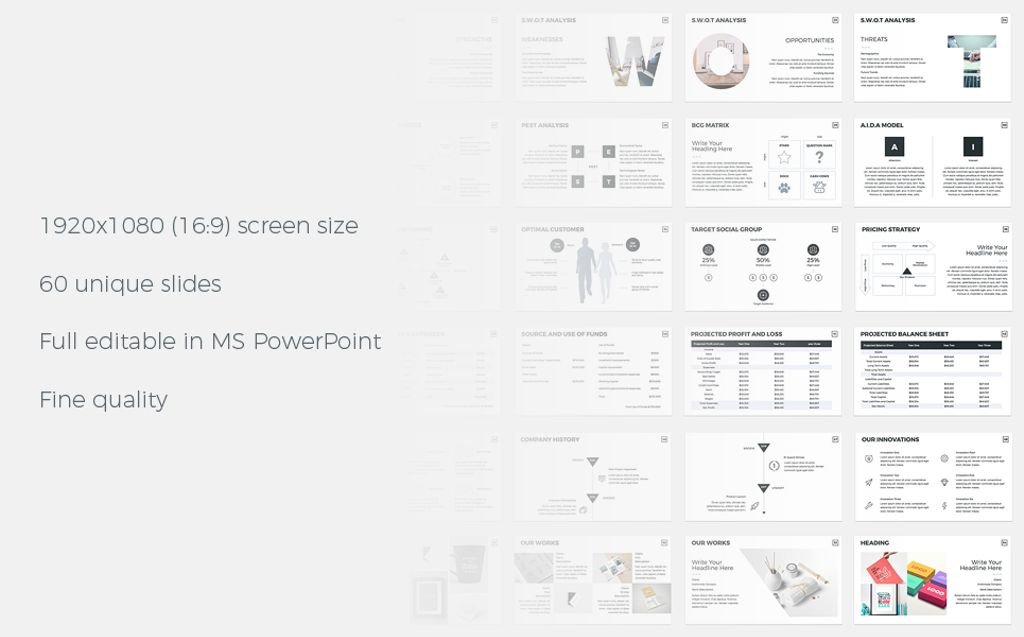 Business Plan -  PowerPoint Presentation Template Big Screenshot