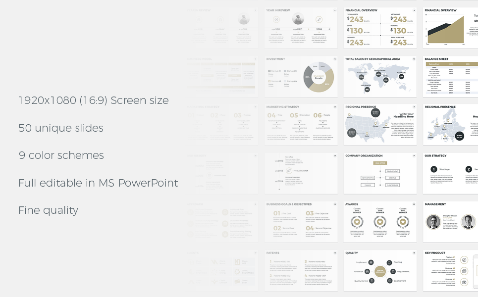 Annual Report - PowerPoint Presentation Template Big Screenshot