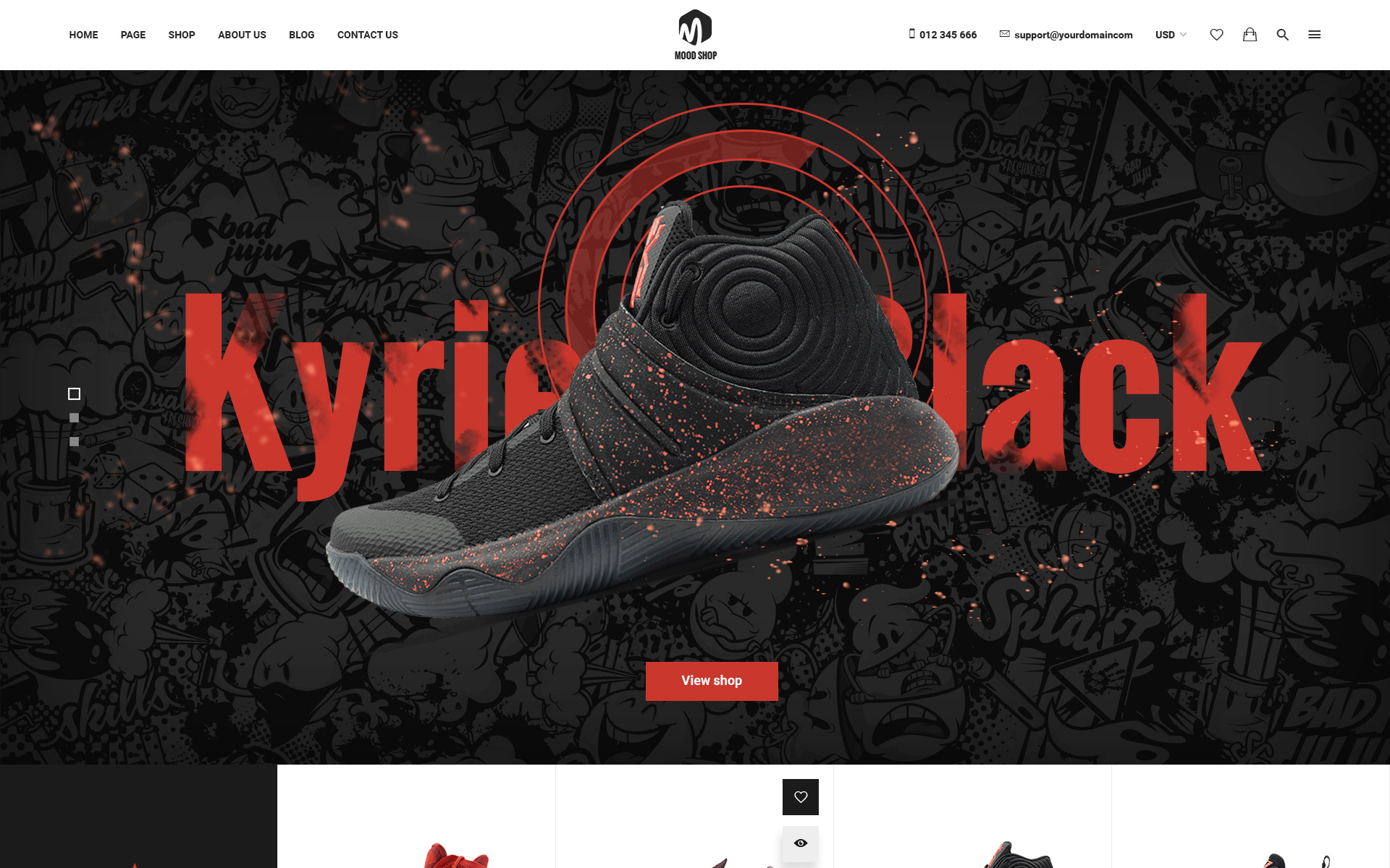 Moodshop - Modern eCommerce Footwear Online Shop PSD Template Big Screenshot