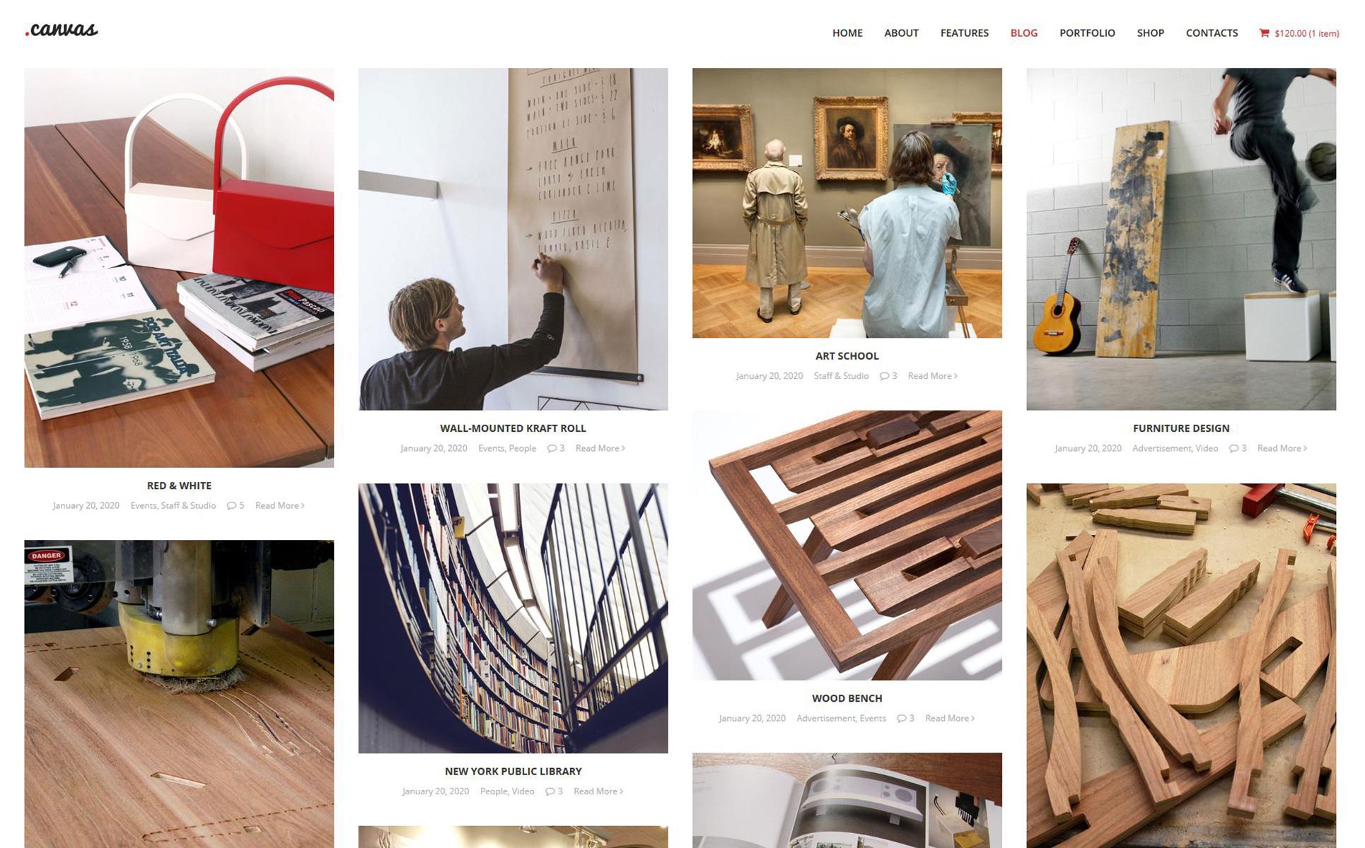 Modèle Web  pour site de design intérieur