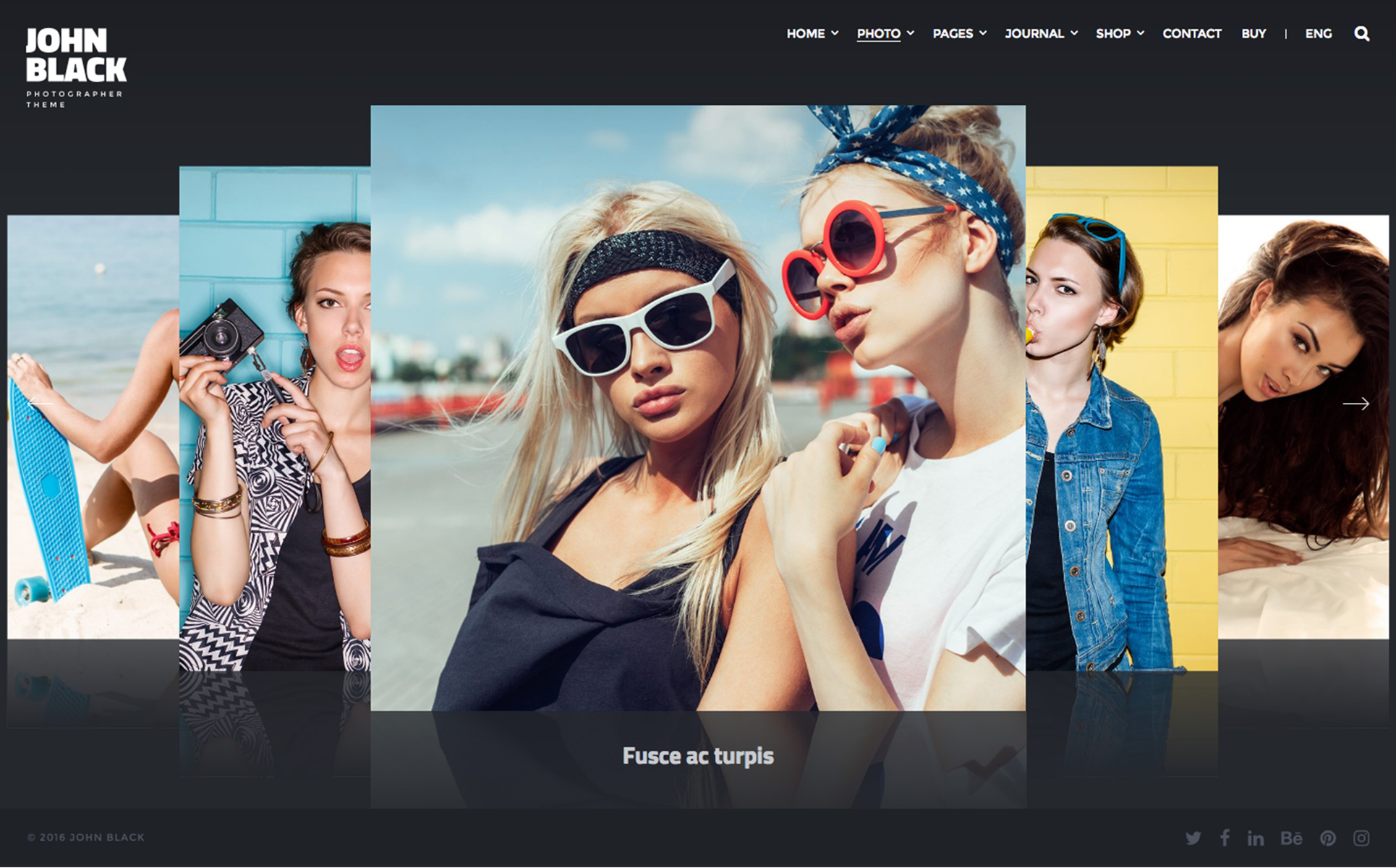 Responsive Website template over Foto Galerij