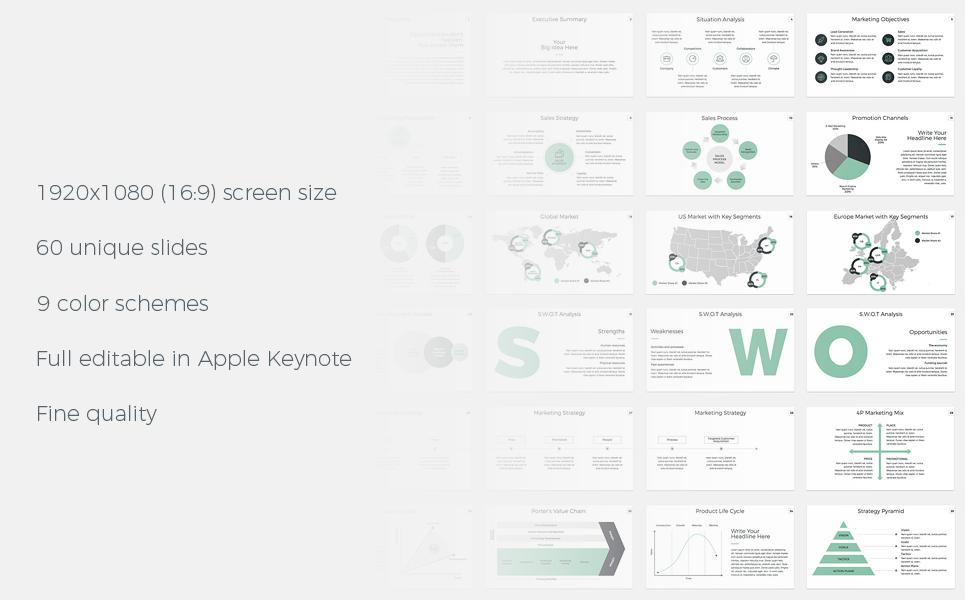 Marketing Plan - Keynote Presentation Template Big Screenshot