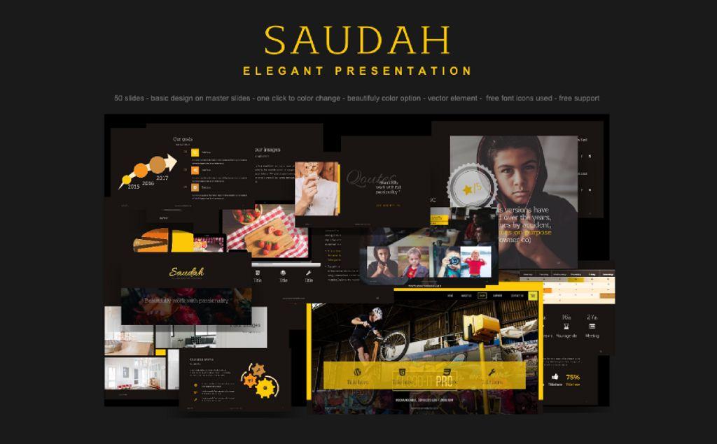 PowerPoint Template - Saudah Elegant Presentation PowerPoint Template