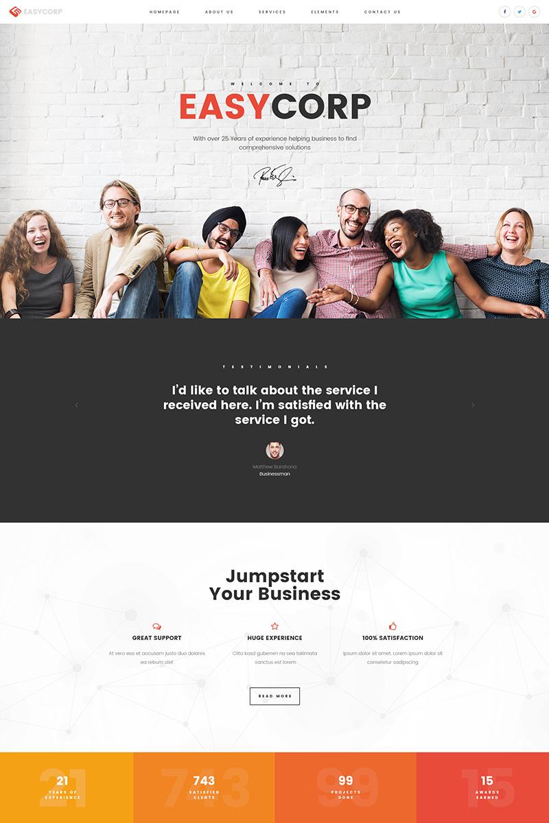 Bootstrap Website template over Business & diensten Groot  Screenshot