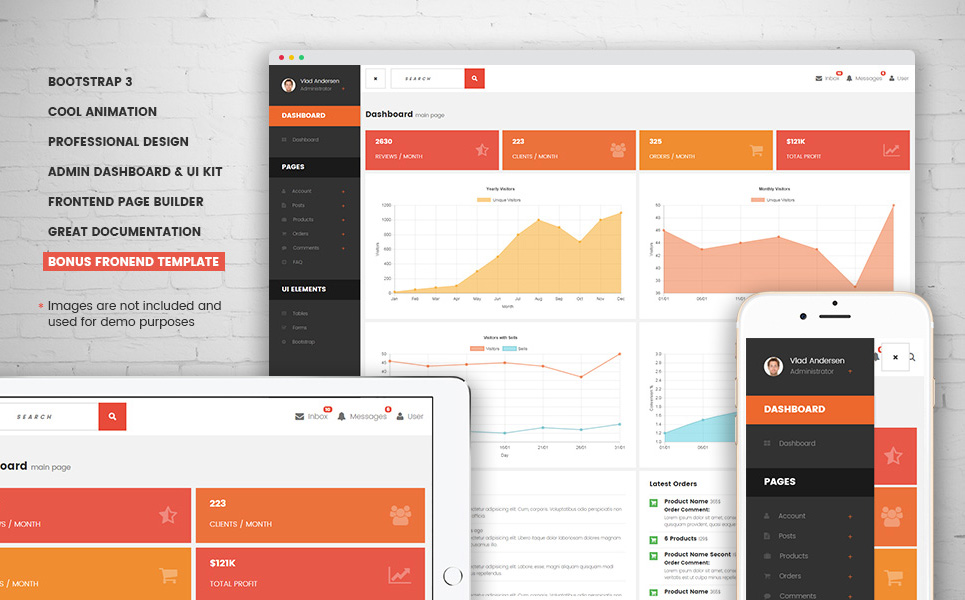 EazyCorp - Multipurpose Web Template with Admin Dashboard and Builder Website Template Big Screenshot