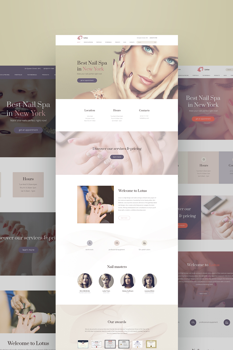 Weblium Website Concept para Sitio de Salones de belleza New Screenshots BIG
