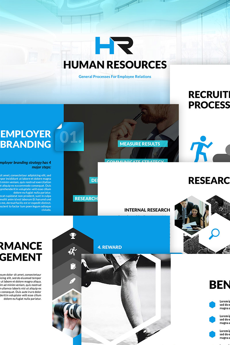 HR Process - PowerPoint Presentation Template Big Screenshot