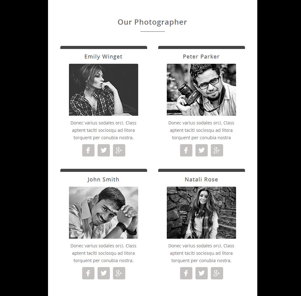 Responsivt Newsletter-mall för fotogalleri