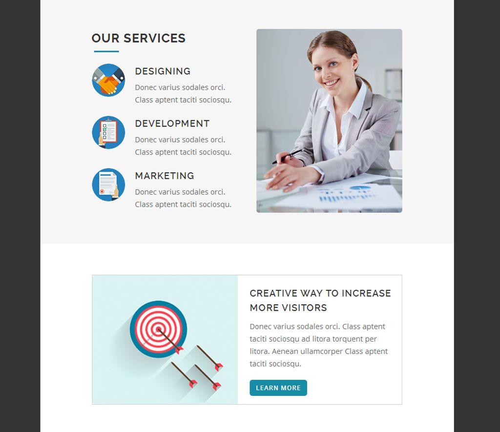 Responsive Newsletter Template Big Screenshot