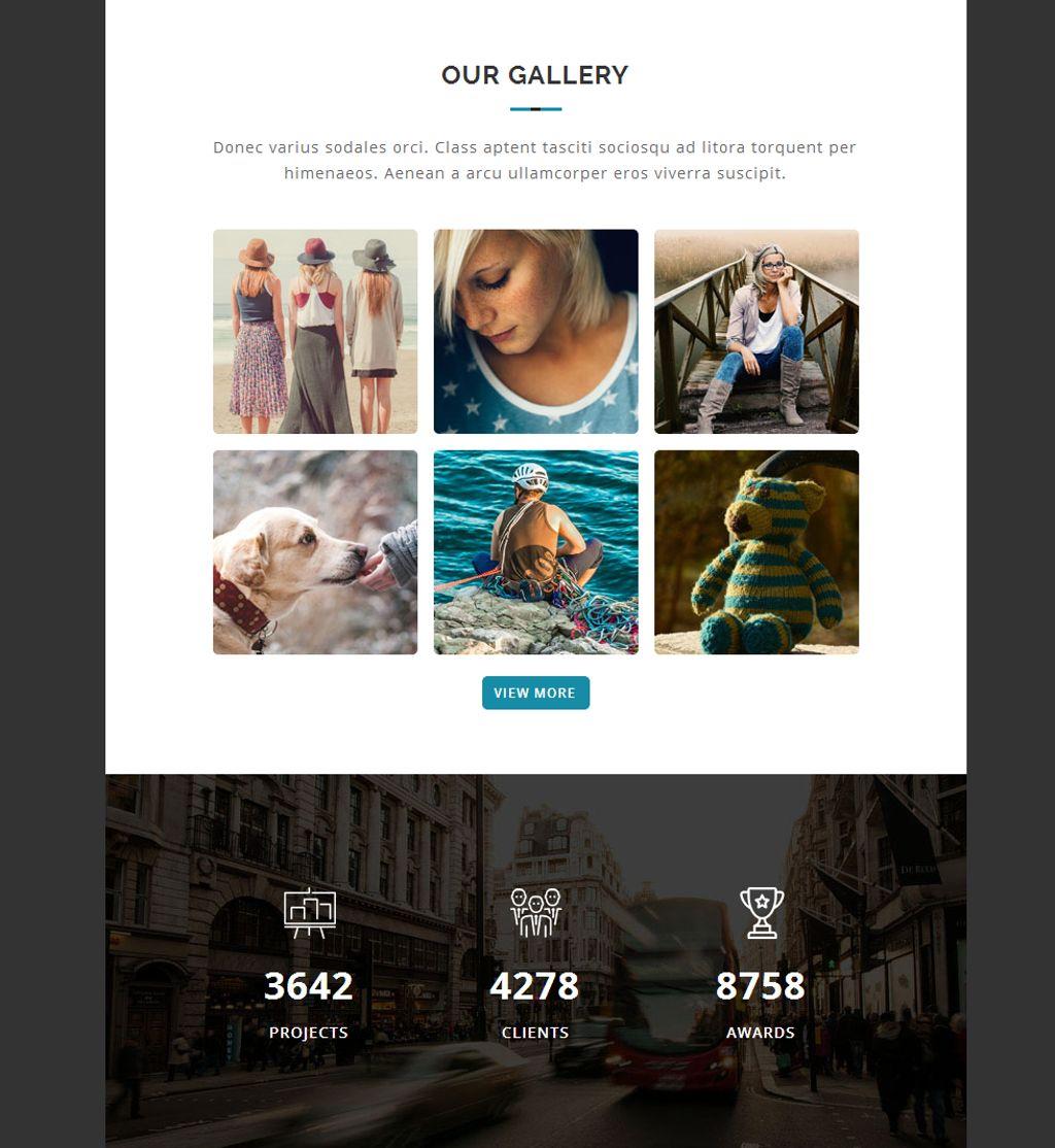 Modèle Bulletin adaptatif  pour galeries photo
