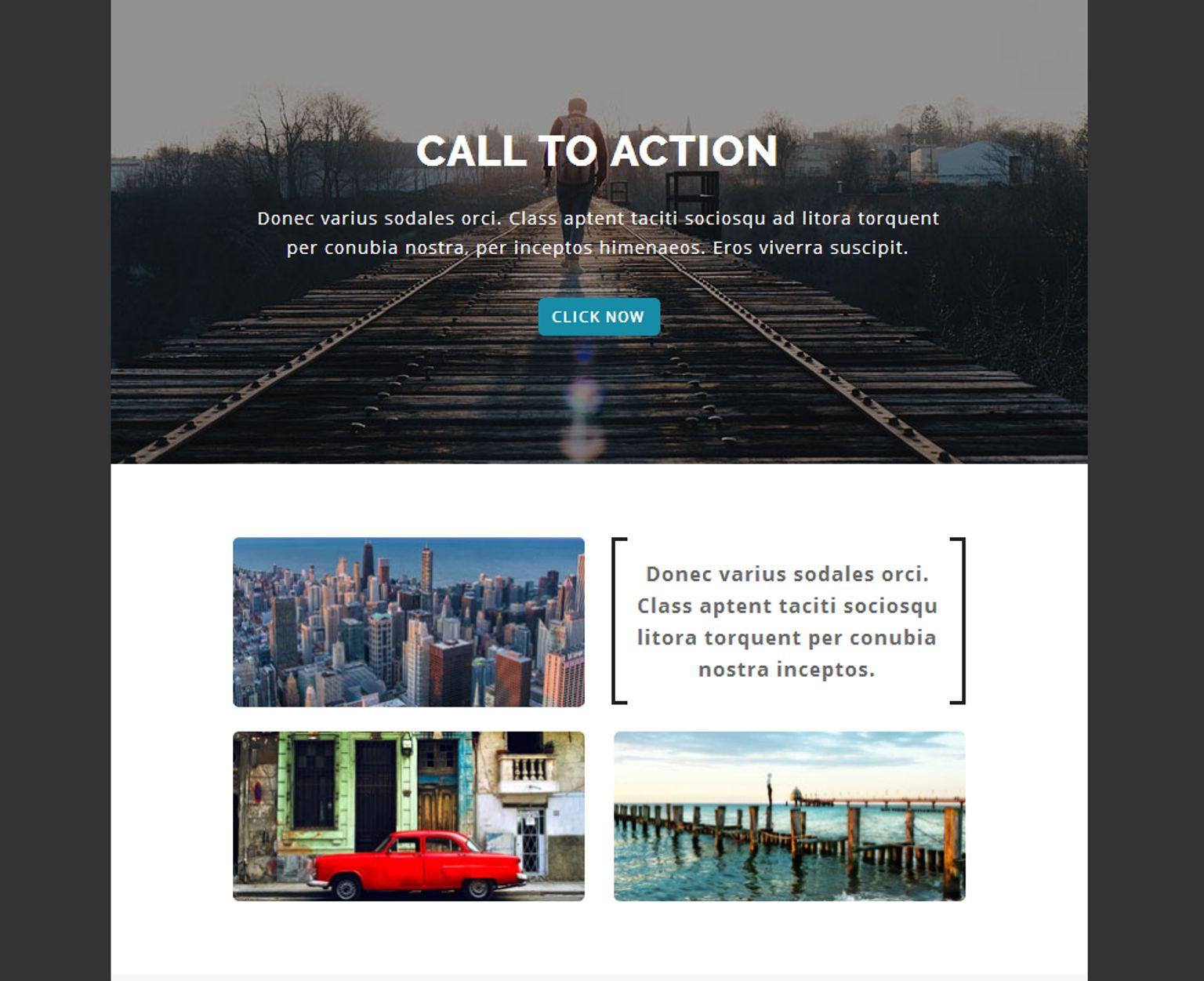 Modèle Bulletin adaptatif  pour galeries photo Grande capture d'écran