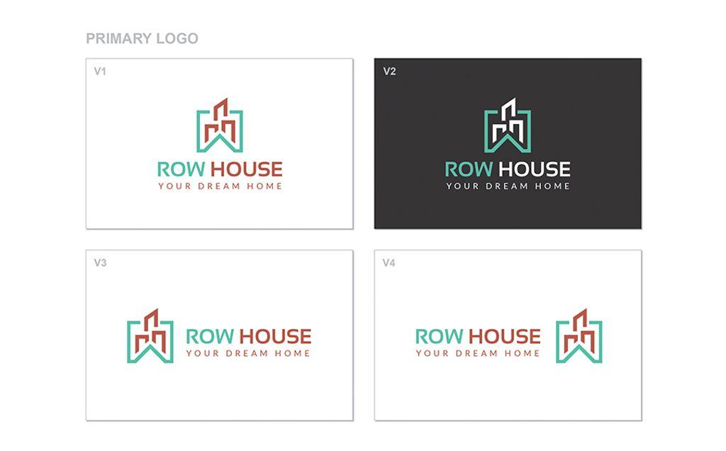 Row House Logo Template Logo Template