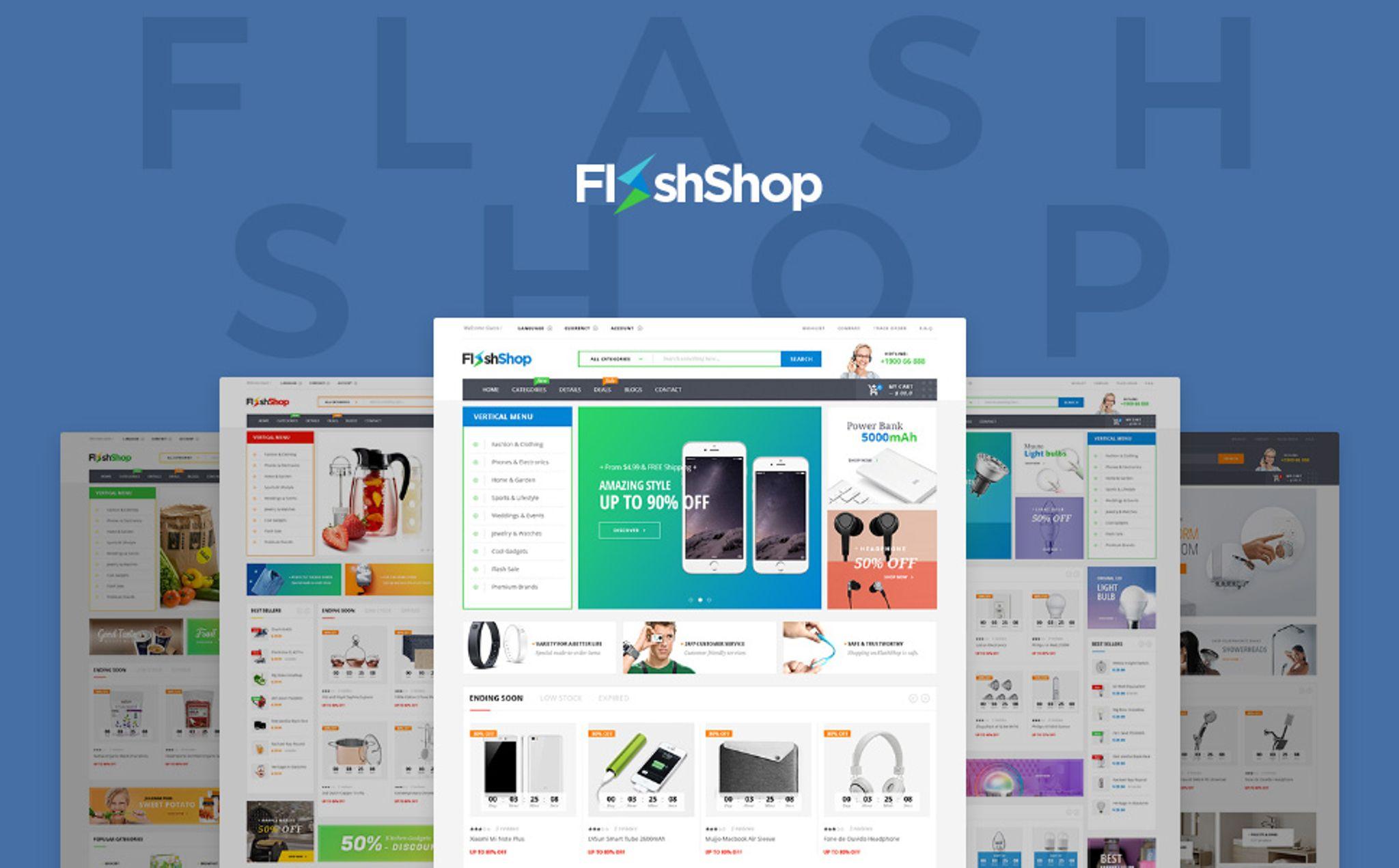 Template WooCommerce Responsive #64147 per Un Sito di Elettronica Screenshot grande