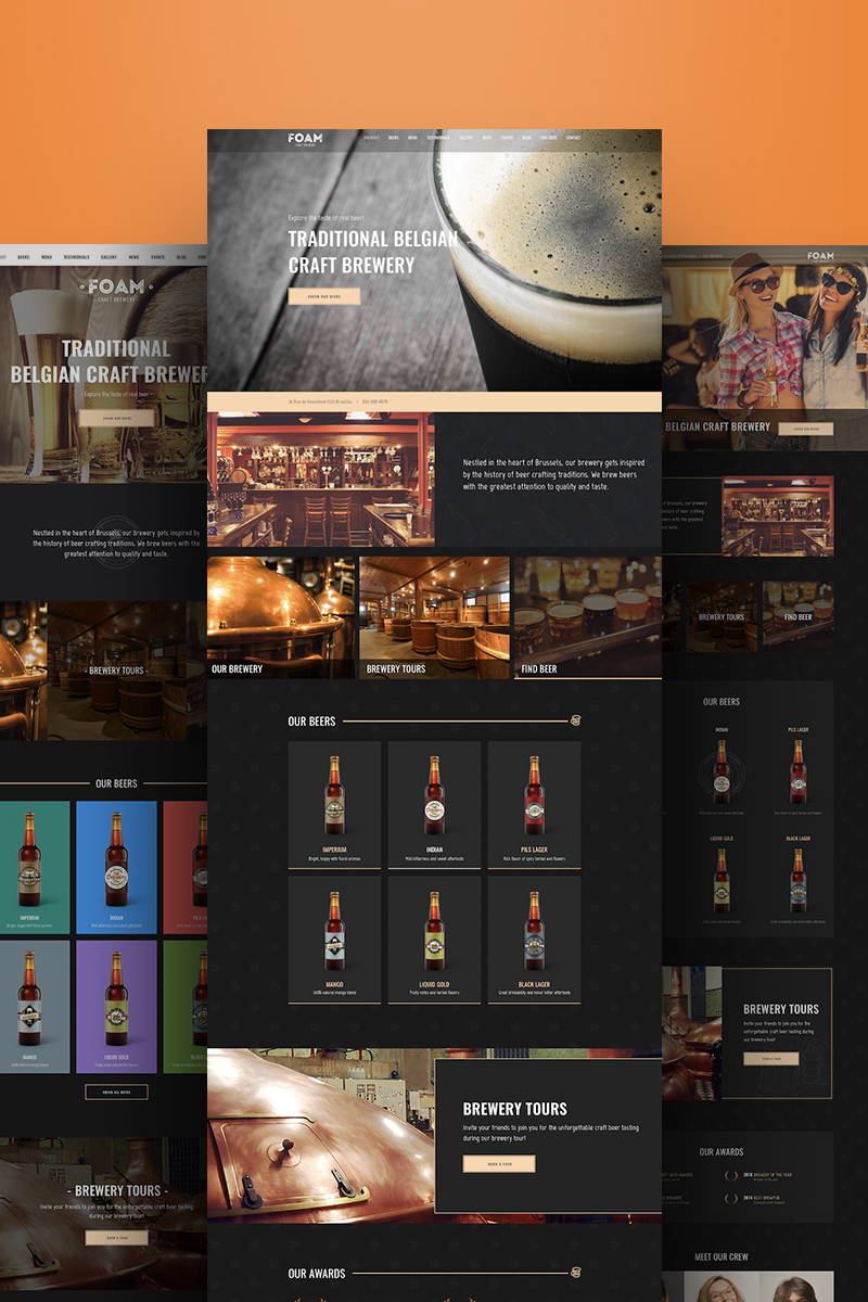 Foam Brewery Weblium Website Concept New Screenshots BIG