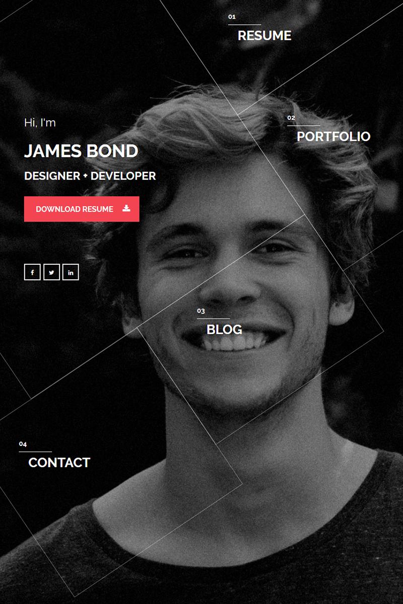 Šablona webových stránek Design a fotografování Velký screenshot