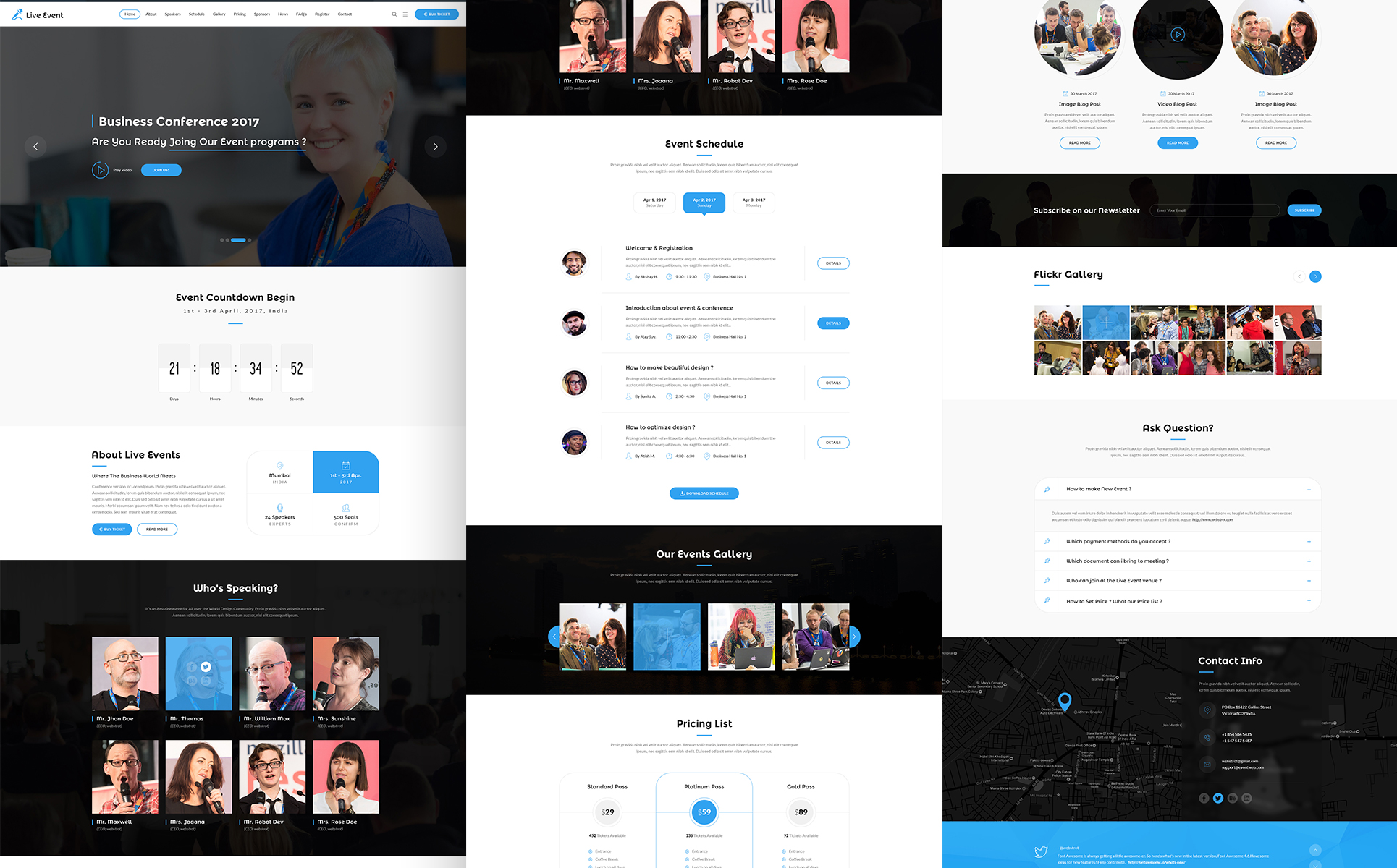 Live Event - Conference, Event & Meetup Landing Page Template