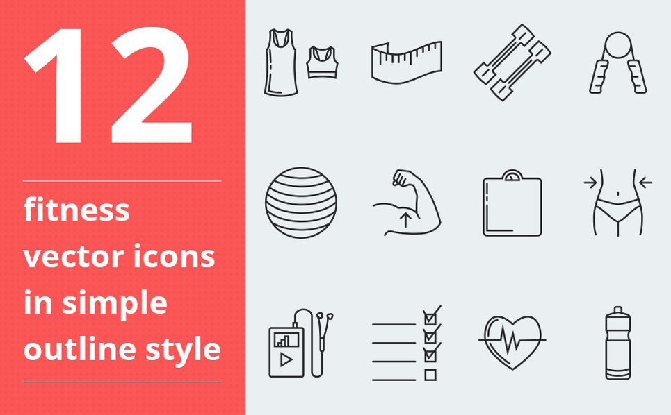 Fitness vector Iconset Template