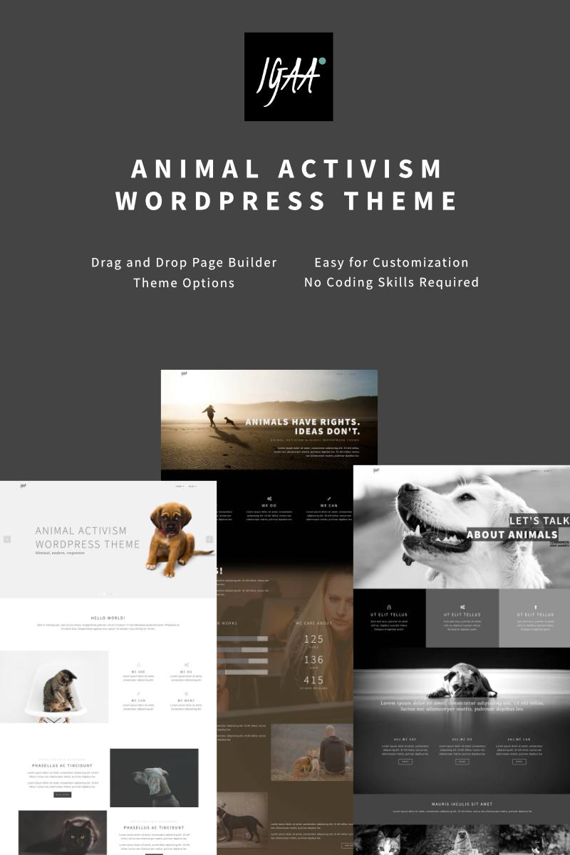 Responzivní WordPress motiv na téma Zvířata Velký screenshot