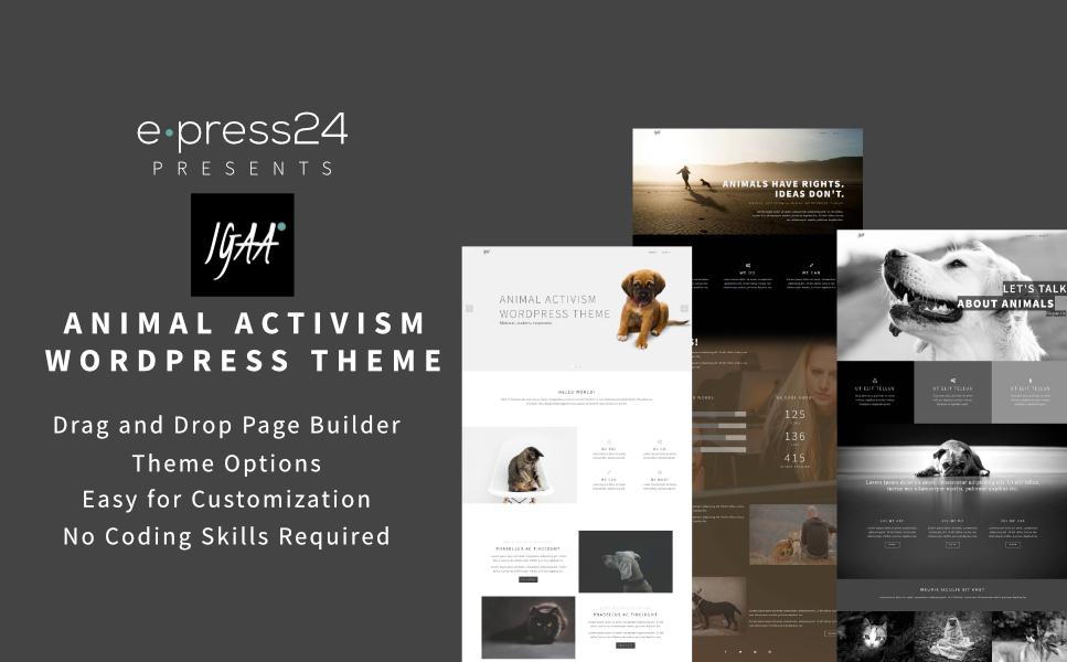 Responzivní WordPress motiv na téma Zvířata