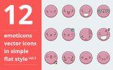 Emotions vector vol.3 Iconset Template Big Screenshot