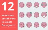 Emotions vector vol.3 Iconset Template