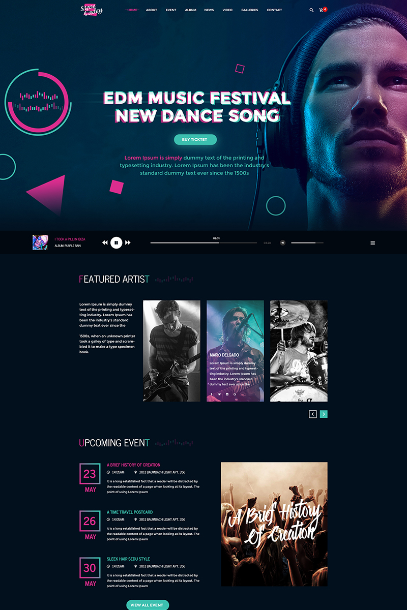 PSD Template over MP3 winkel  Groot  Screenshot