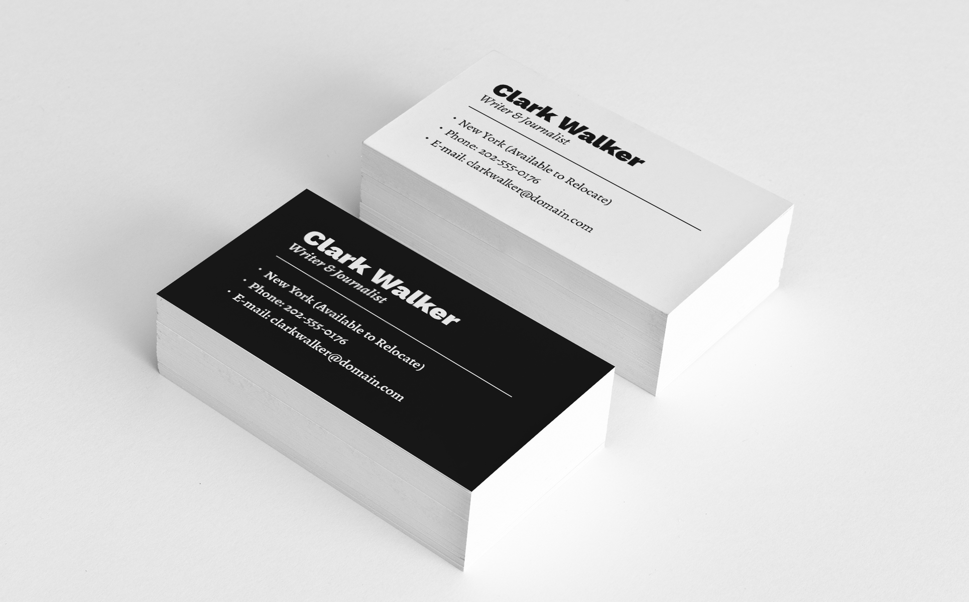 Clark Walker - Writer & Journalist Resume Template Big Screenshot