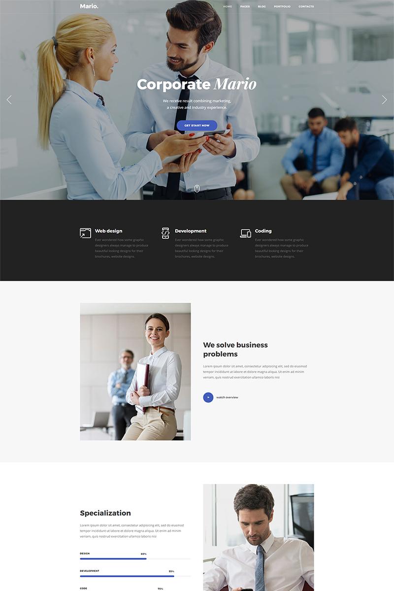 Responsive Website template over Business & diensten