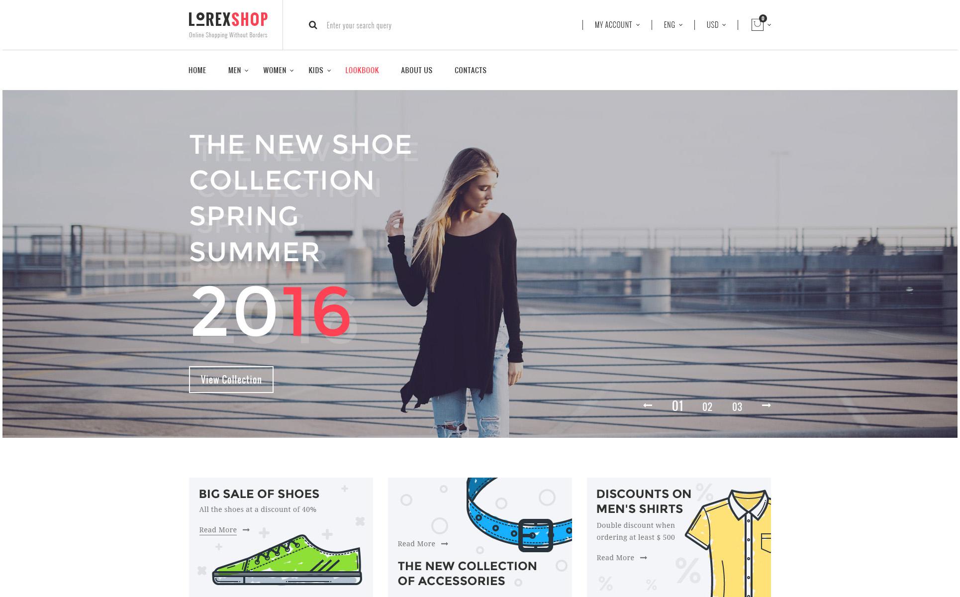 LOREX - E-commerce PSD Template