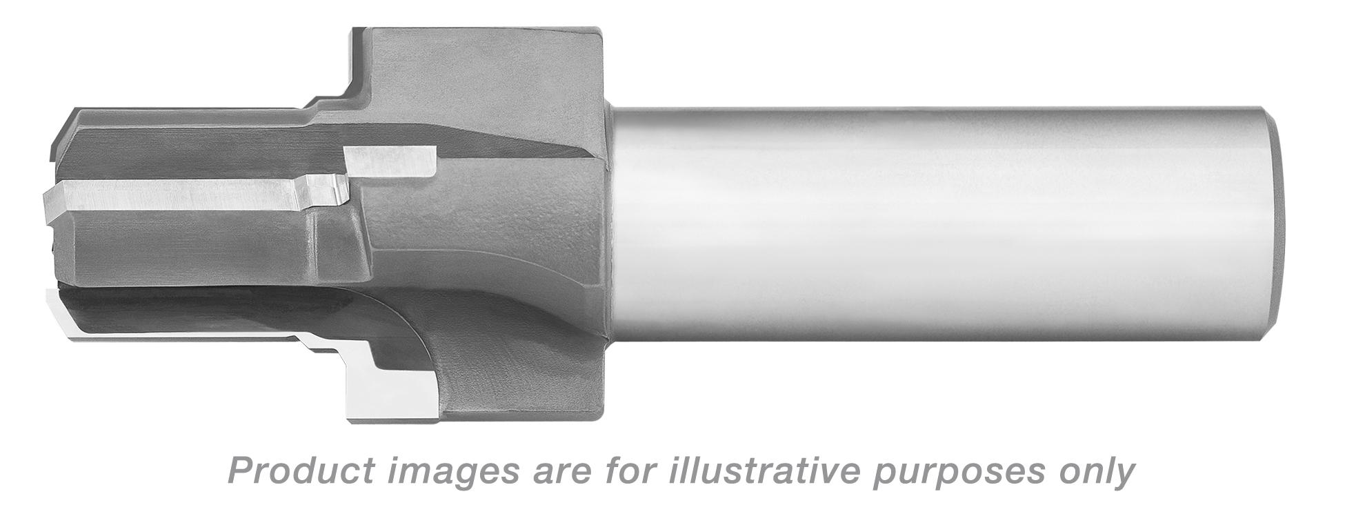 REAMER PILOT PORT TOOL CARBIDE TIPPED 1 1/16-12 THREAD 3/4 TUBE 3.94 OAL