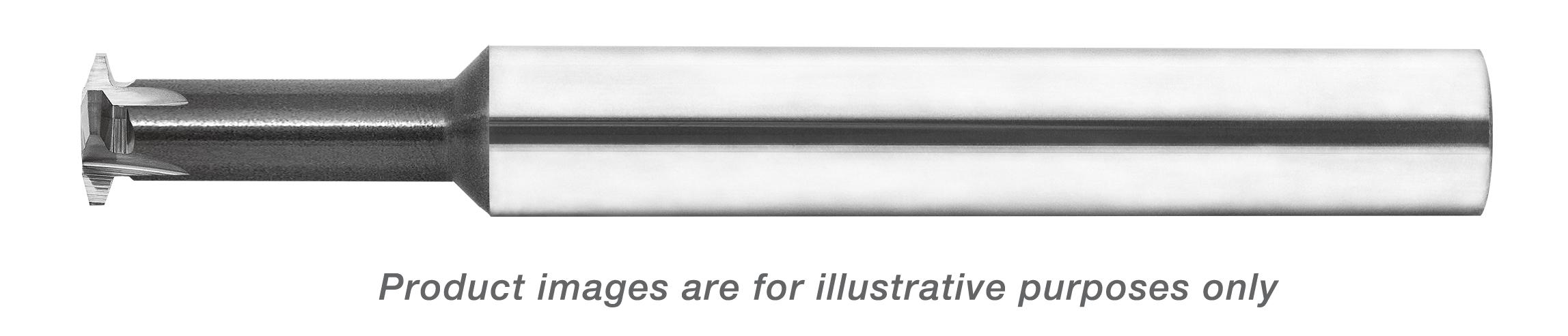 SINGLE PROFILE THREAD MILL CARBIDE (SPTM) 1/2-10 FULL ACME .320 DIA X .750 LOC (4 FLUTES) 3/8 SHANK 3 OAL