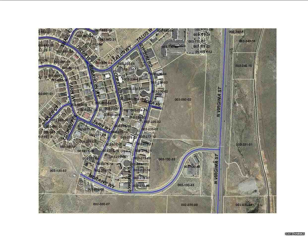 Image for 0 Moraine Drive, Reno, NV 89503