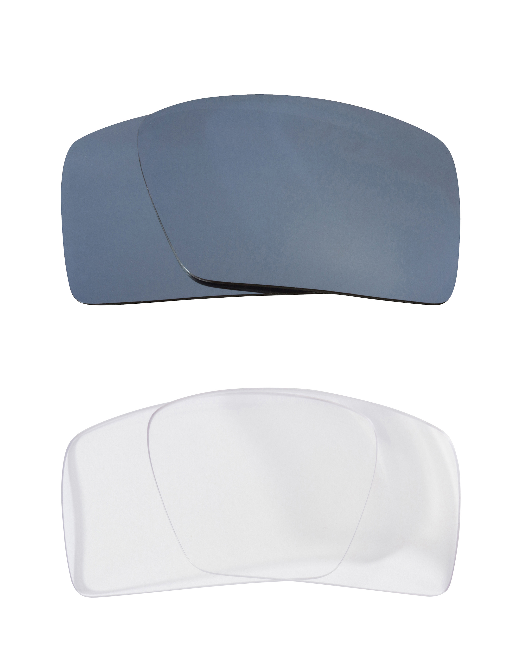 2b11e98778c Details about Eyepatch 2 Replacement Lenses Crystal Clear   Silver by SEEK  fits OAKLEY