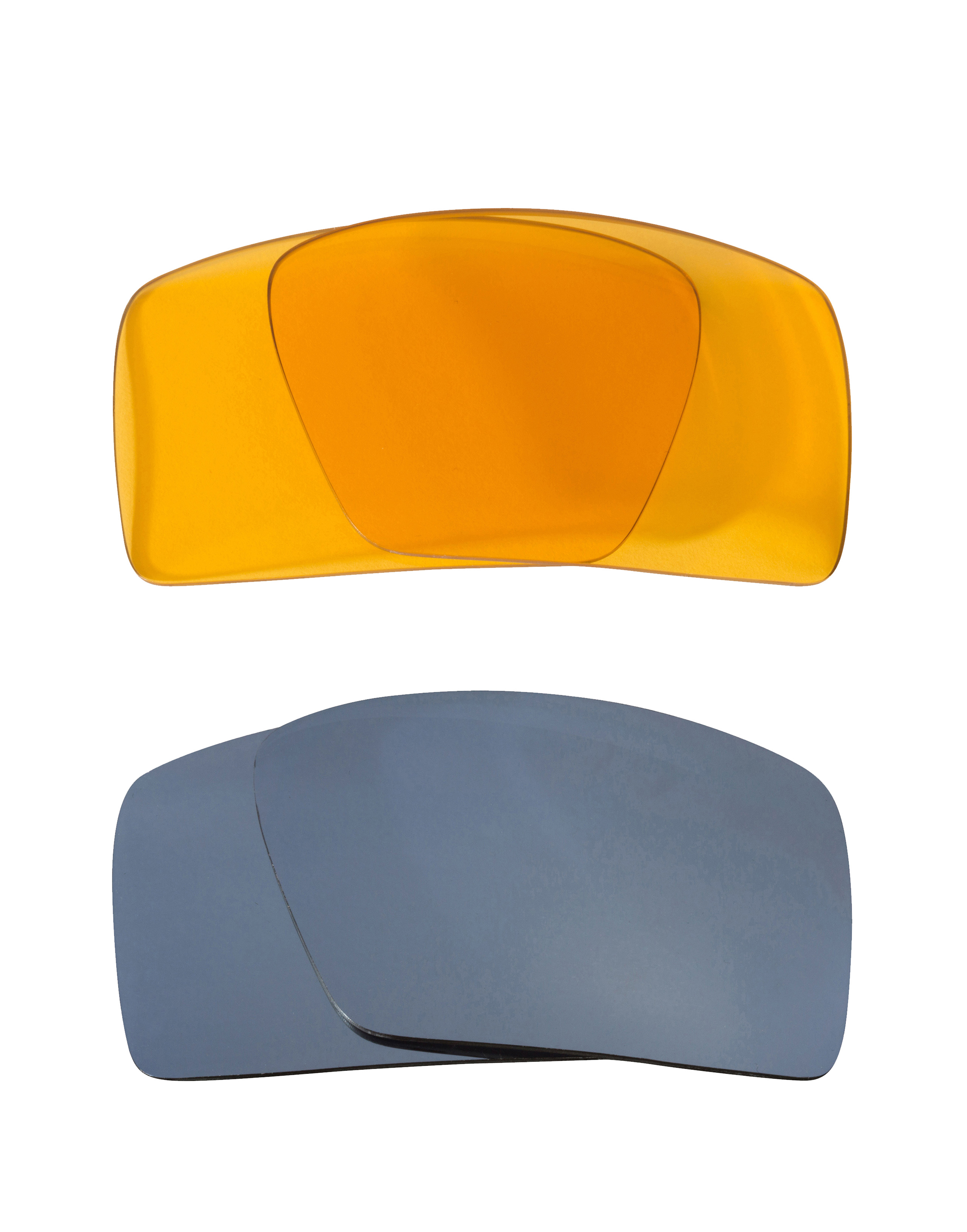 0c55c74178 Details about Eyepatch 2 Replacement Lenses Hi Intensity Yellow   Silver by SEEK  fits OAKLEY
